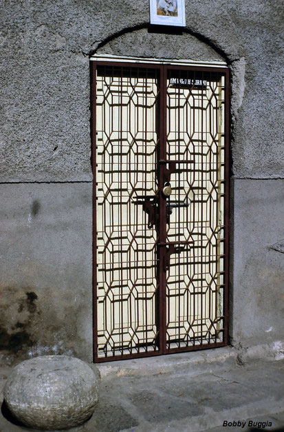 """Door at Meher Baba's childhood home """"Pumpkin House"""" in Poona"""