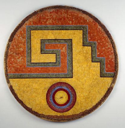 Aztekisches Federschild aus der Zeit Moctezumas II.