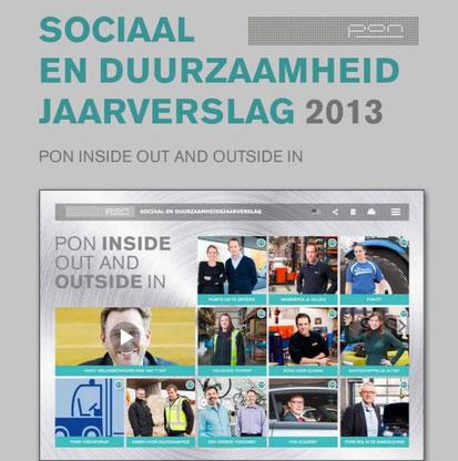 Voor Pon maakten we van 2009 tot 2013 een combinatie van een intern en extern jaarverslag