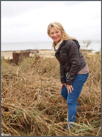 Caroline Grossot, en bordure du Bassin d'Arcachon