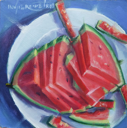water melon still life natur morte oil painting