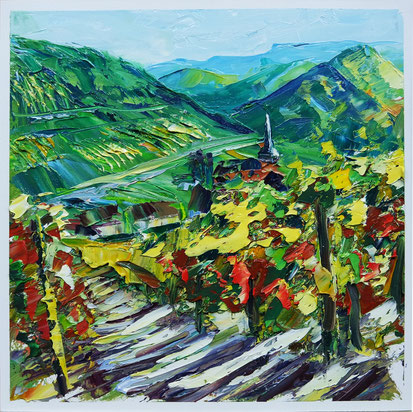 altenahr germany riesling wine oil painting vineyard landscape