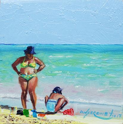 cuba playa pilar cayo coco seascape beach oil painting