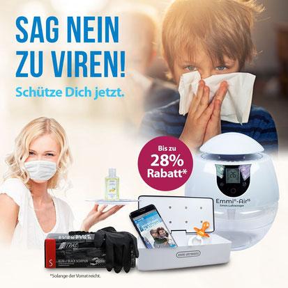Schütze dich sich und dein Umfeld vor Keimen und Viren.