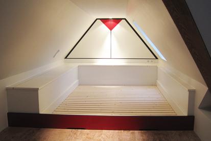 Kinderzimmer Einbaumöbel Innenausbau Bett Schrank Licht