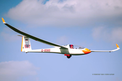 Endanflug im Förderflugzeug (Foto: Pribina Cup)