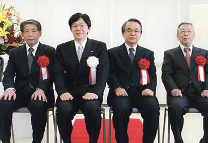 感謝状受賞 後藤克義支部長(写真右)