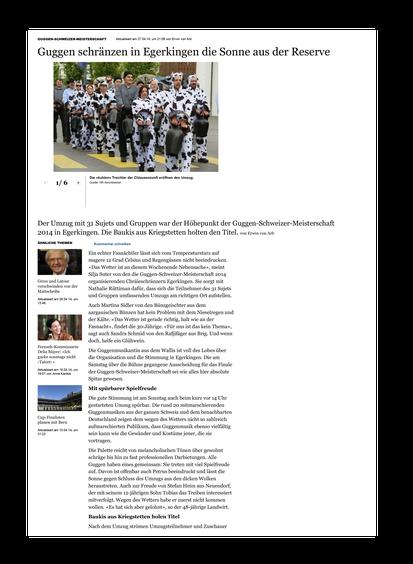 Oltner Tagblatt online vom 27.04.2014