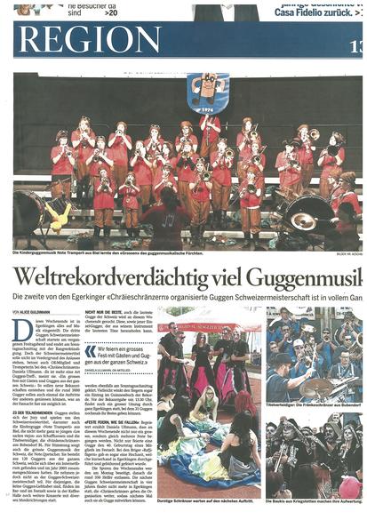 Oltner Tagblatt vom 27.04.2014