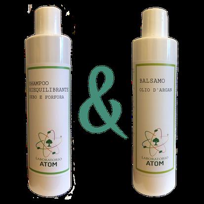 Shampoo sebo e forfora + balsamo
