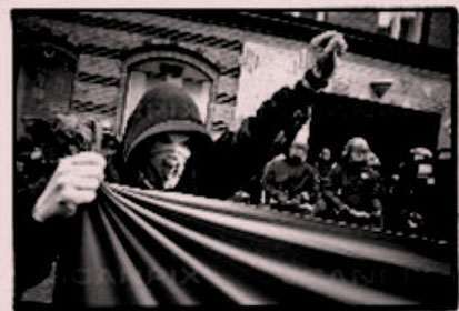 Christian i solidaritetsdemo for guerillagruppen MRTA i Peru, København 1997