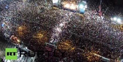 """""""OXI! / NEJ! til kreditorernes diktat!"""" : Athen, d. 3. juli 2015"""
