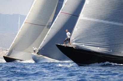 Regatta sailing in the Mediterranean Sea