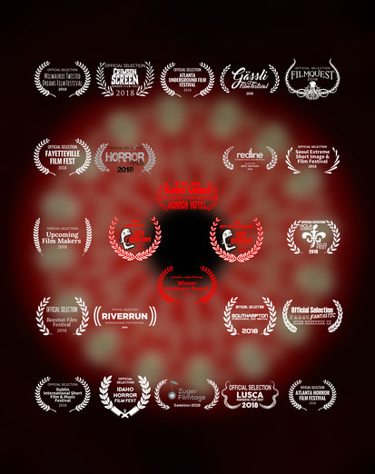 Porcelain Stare poster with selected film festivals