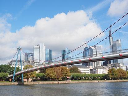 Le pont piéton Holbeinsteg, célèbre vue du film