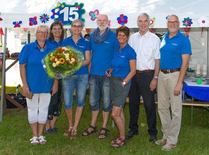 Team BGS mit Bürgermeister beim Parkfest