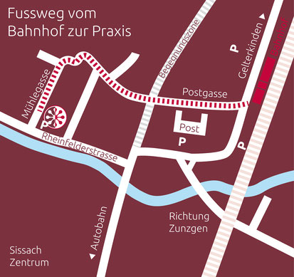 Plan: Praxis Nicole Korell TCM Akupunktur Rheinfelderstrasse 22 in Sissach / Baselland