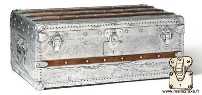 Louis vuitton aluminum trunk