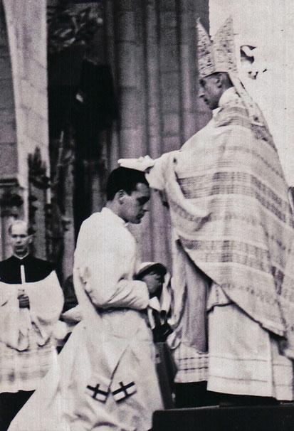 Priesterweihe durch Nuntius Erzbischof Bafile