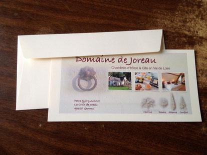 Chèque cadeau - séjour en chambre hôtes au Domaine de Joreau, Saumur