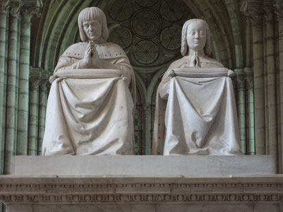 Orants de Louis XII et Anne de Breatgne. Source : Laure Trannoy