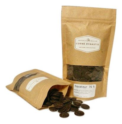 pépites - chocolat - pastilles - Corné Dynastie - Chocolat Equateur