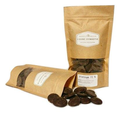 pépites - chocolat - pastilles - Corné Dynastie - Chocolat Vietnam