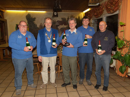 v.l.:  Burkhard Balkenhol, Bernd Sander, Olaf Kopplin, Thomas Trautmann, Dieter Bauer