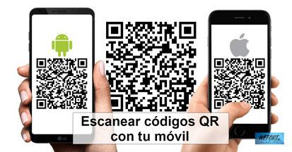 Cómo escanear códigos QR con tu móvil Android o con iPhone / iOS