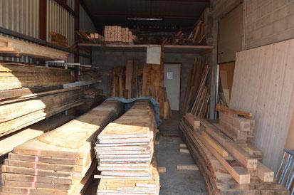 Zone de réception des billes de bois
