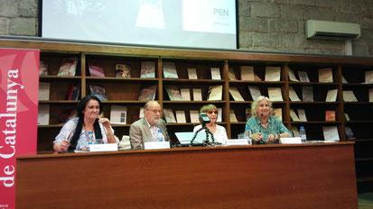 D'esquerra a dreta: Eugènia Serra, Joaquim Carbó, Antònia Vicens i Carme Arenas