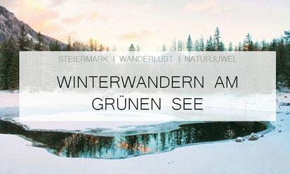 Grüner See in Tragöss im Winter Winterwandern