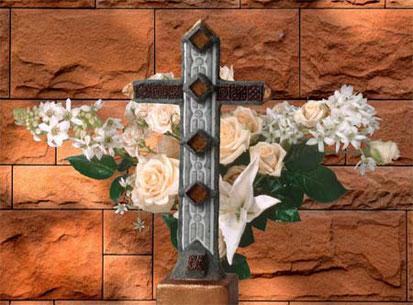 Standkreuz mit Steinen Stil Antik