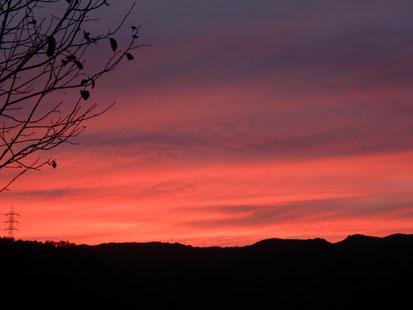 十文字平和教会から見えた秋の夕焼け その2