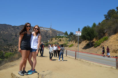 Samara und ich am Hollywood Sign
