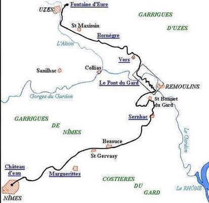 L'aqueduc romain entre Uzès et Nimes