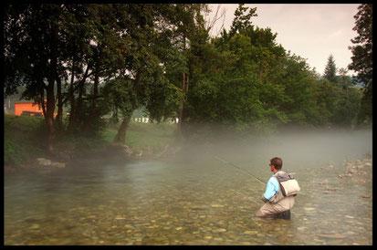 Si pesca a risalire