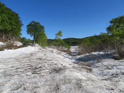 野々海池は雪の中。