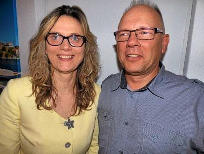 Auf gute Zusammenarbeit: Katrin Köhler und Thomas Kleemann sind für den Gewerbeverein zuversichtlich