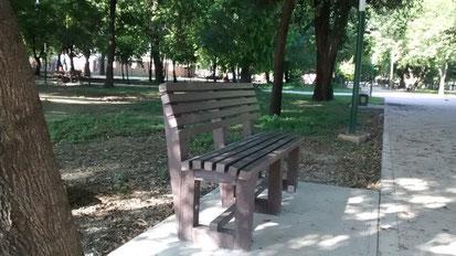 Banca de plástico para parques