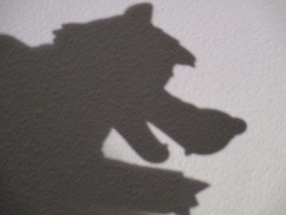 Schatten Wolfsfigur