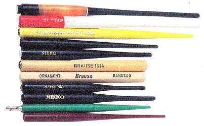 マンガスクール・はまのマンガ倶楽部/様々なペン軸