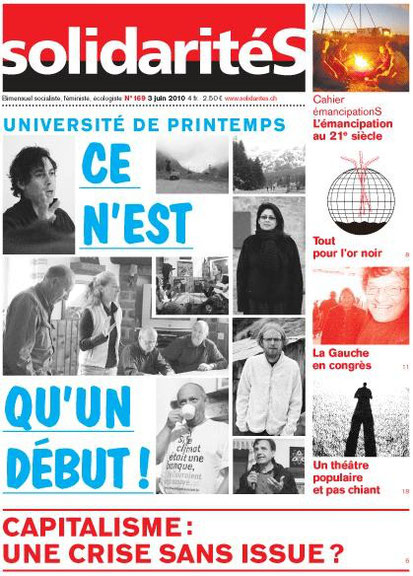 Journal suisse romand anticapitaliste, féministe et écologiste pour le socialisme du 21e siècle