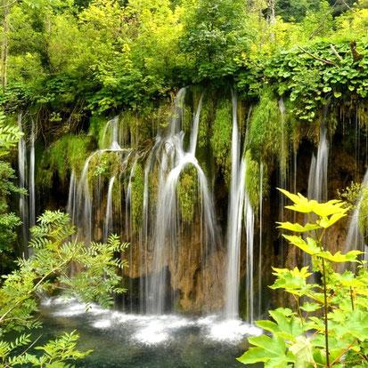 Erleuchtung beseelt dich wie der Anblick eines üppigen Wasserfalls