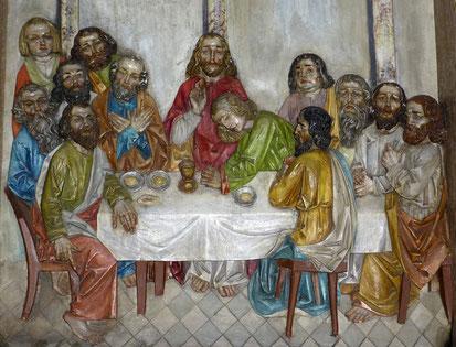 Biblische Szene des letzten Abendmahls