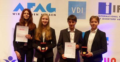 Bereits 2019 in Nürnberg und nun in Marokko ausgezeichnet: Lorena Koch, Aileen Girschik, Jan Reckermann und Sofia Mik (von links).