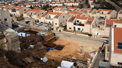 Israelske nybebyggelser i Hebron på  Vestbredden 2017
