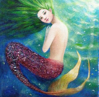 「人魚姫」 油彩・キャンバス S3