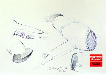 Mappenkurs Produktdesign Industrial Design, Produktdesignstudium Pforzheim