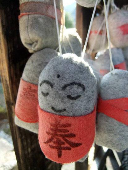 Jizō : feutre et tissu